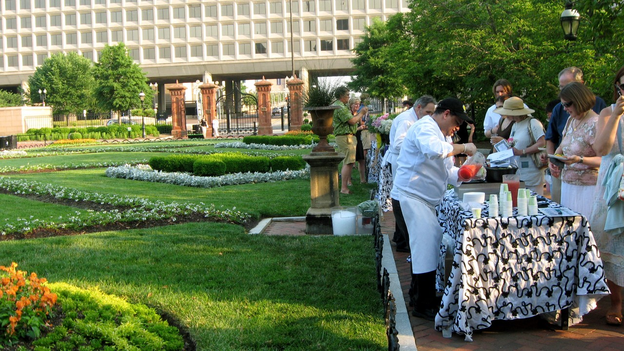 Guests Mingle at the Museum Victorian Garden Party