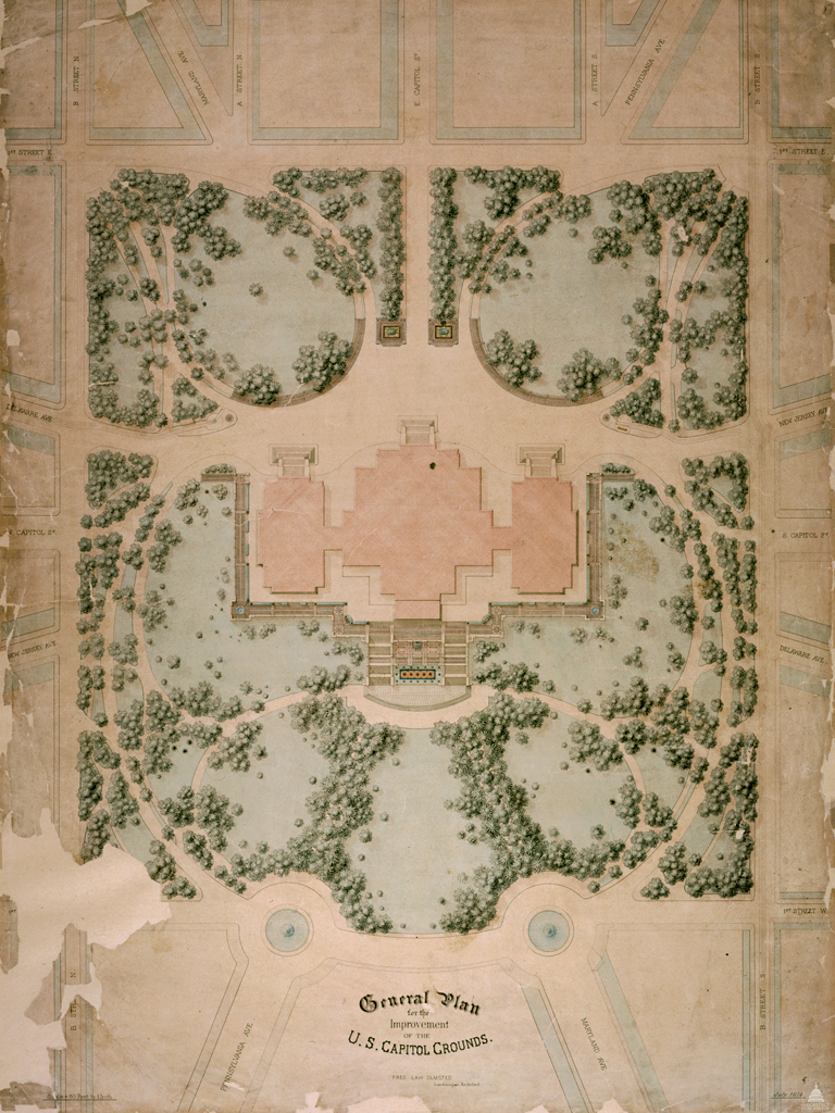 1874 Olmsted's Plan for the U.S. Capitol Grounds
