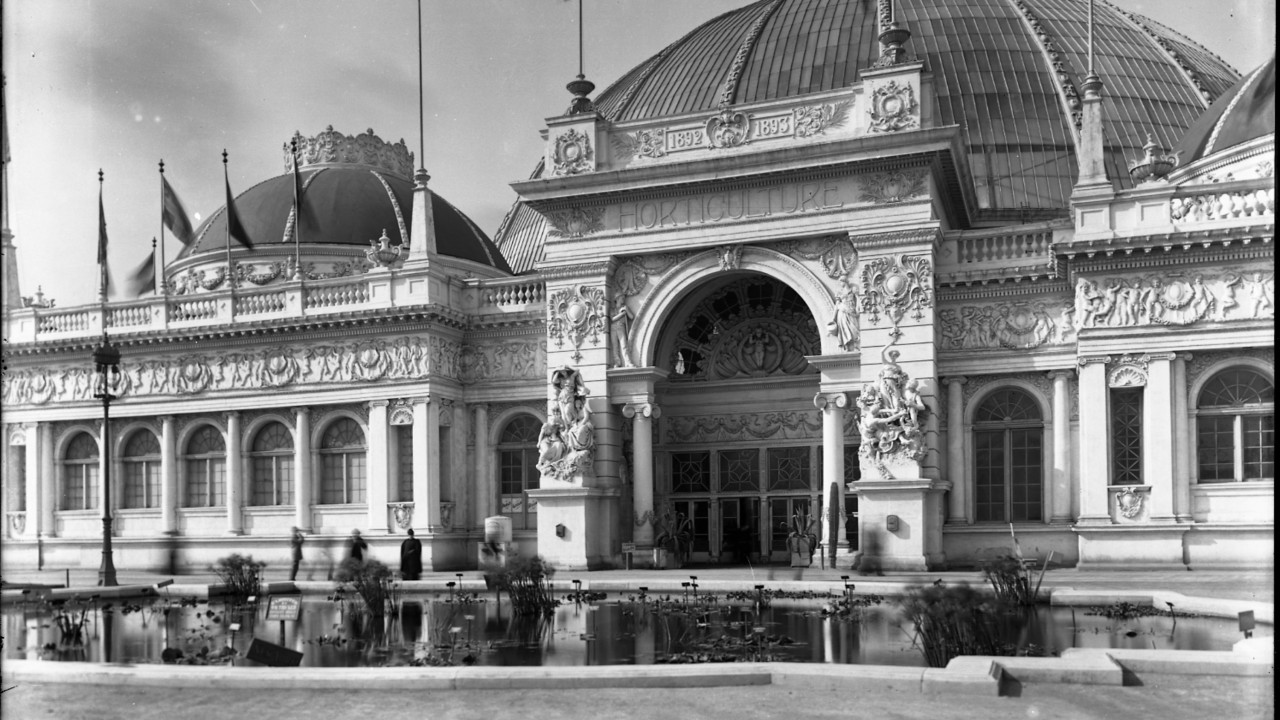 Horticulture Palace, World's Columbian Exposition, about 1893 Archives of American Gardens
