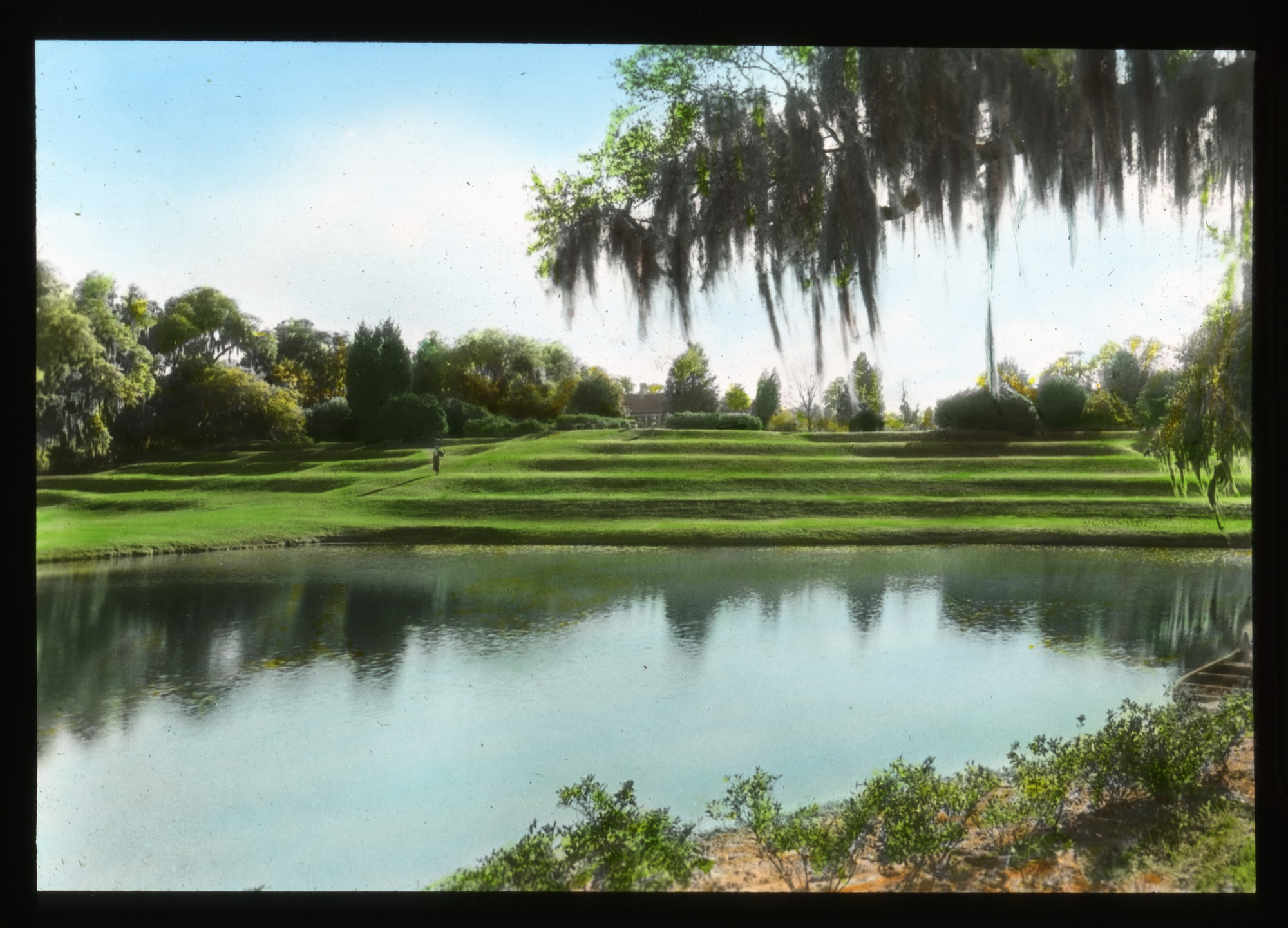 Color postcard of Middleton Place gardens.