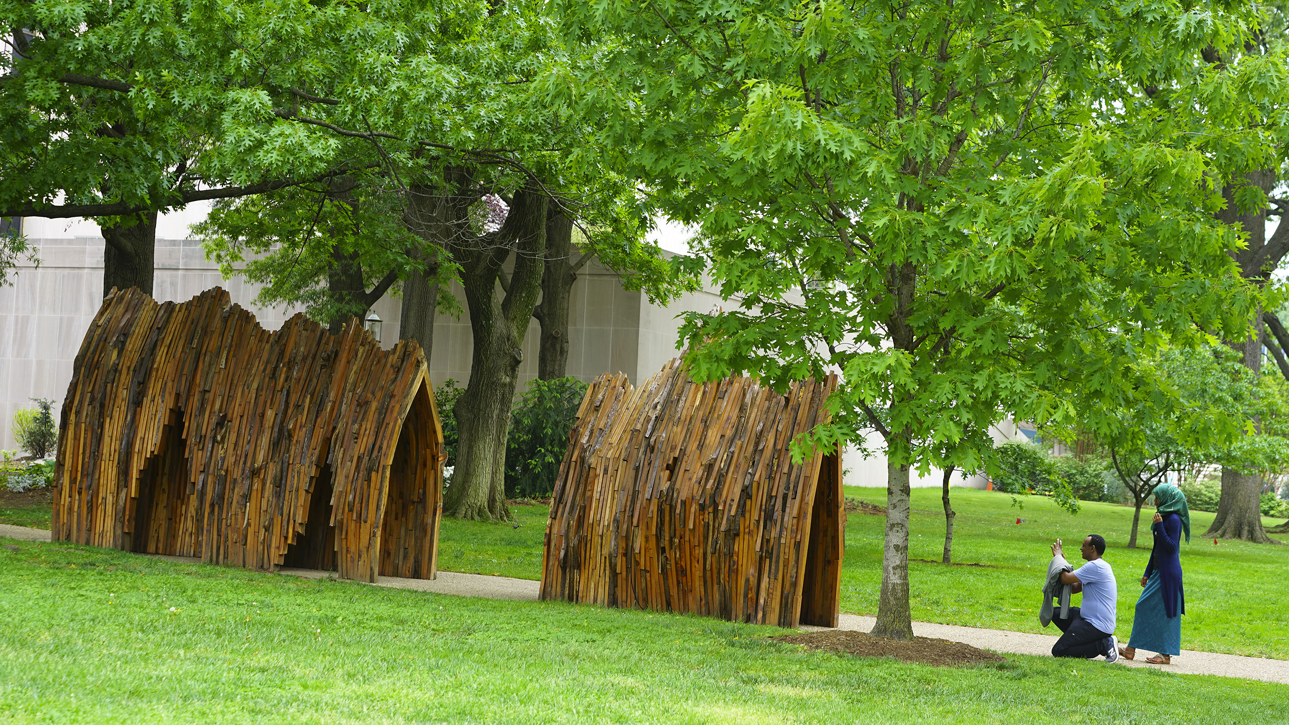 Arches of Life Sculpture by Foon Sham outside of the National Museum of American History