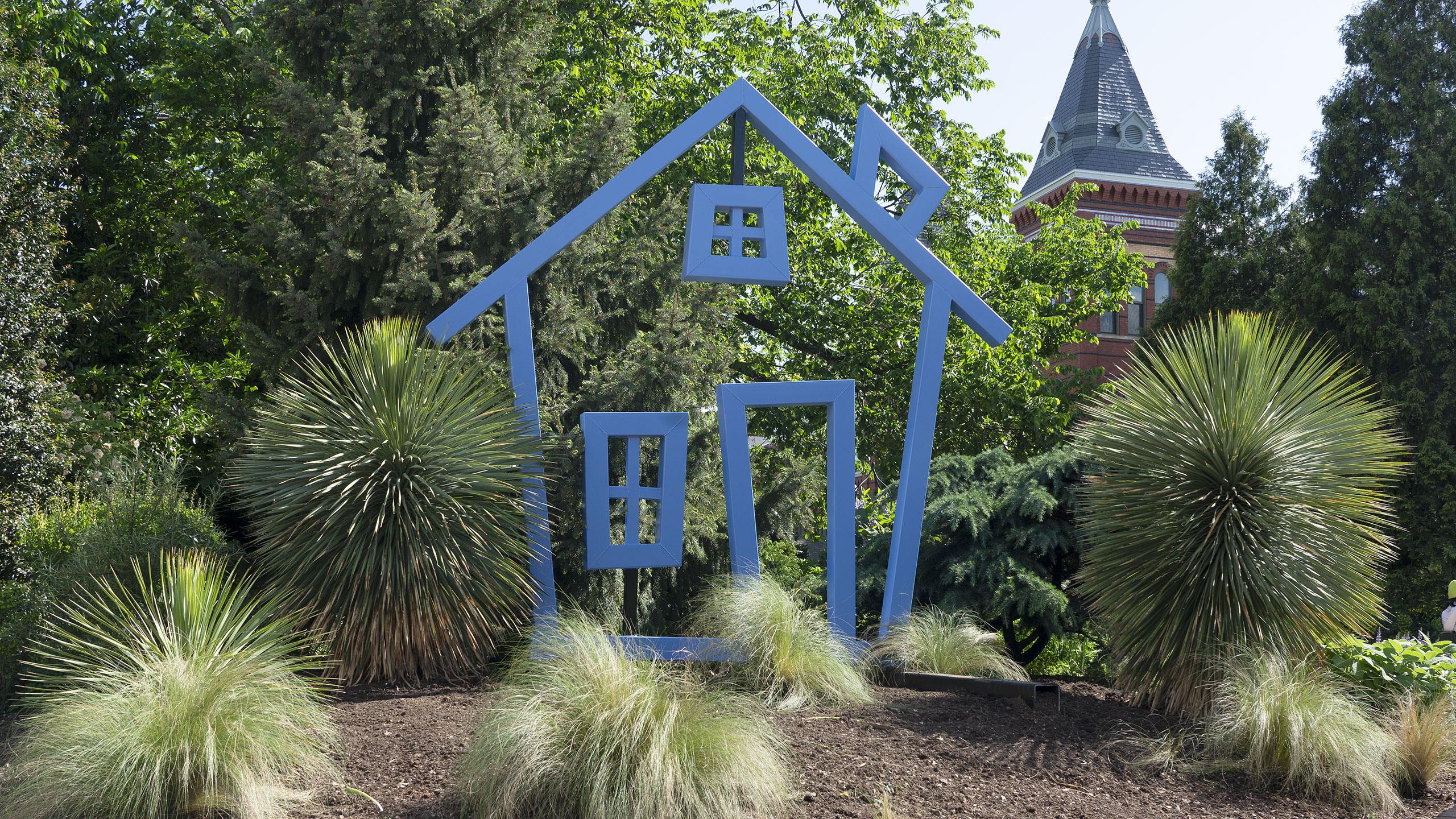 Habitat installation in the Mary Livingston Ripley Garden