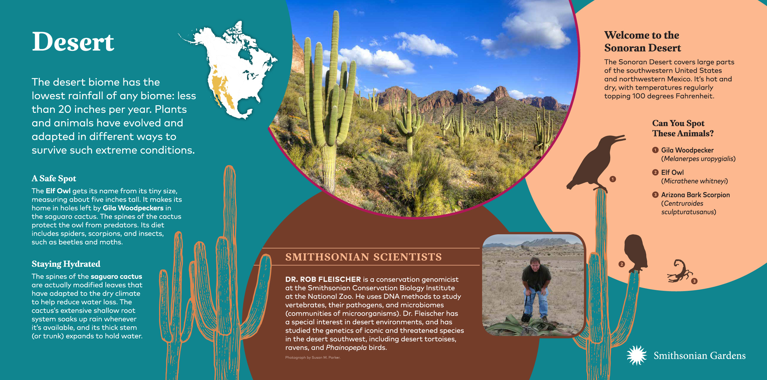 Desert Biome exhibit panel