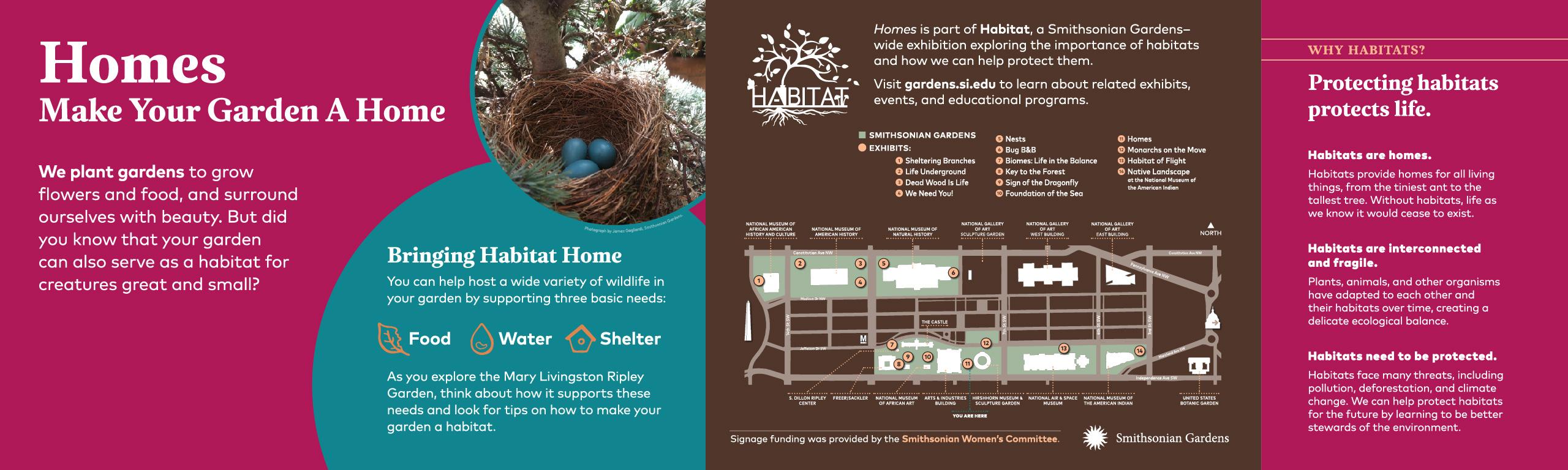Homes: Make Your Garden A Home exhibit sign