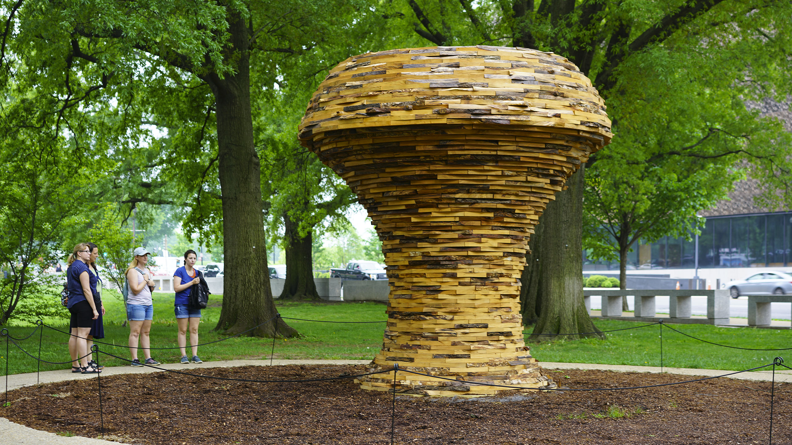 Mushroom Sculpture by Foon Sham outside of the National Museum of American History