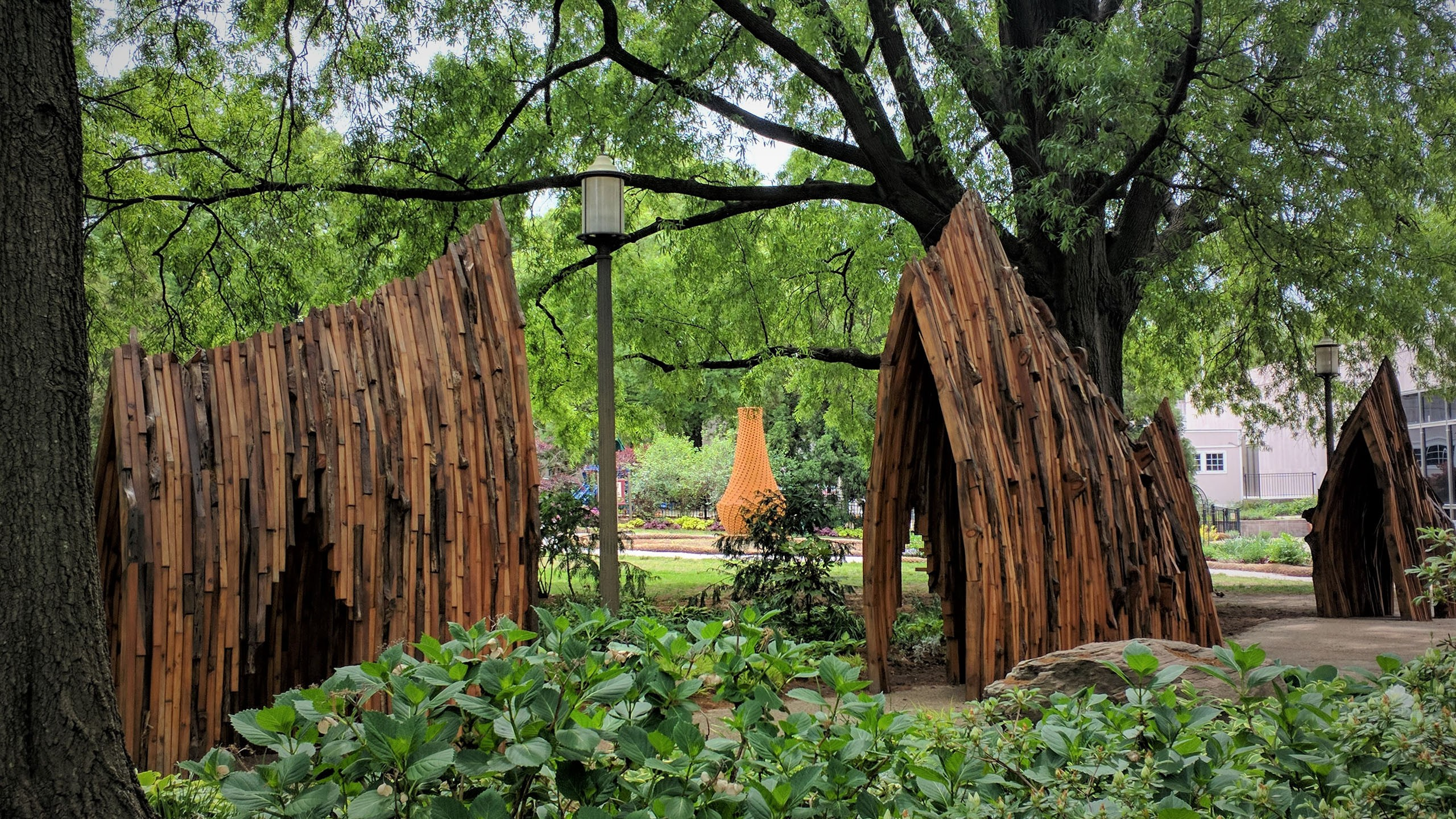 Arches of Life by Foon Sham outside the National Museum of American History, Habitat Exhibition