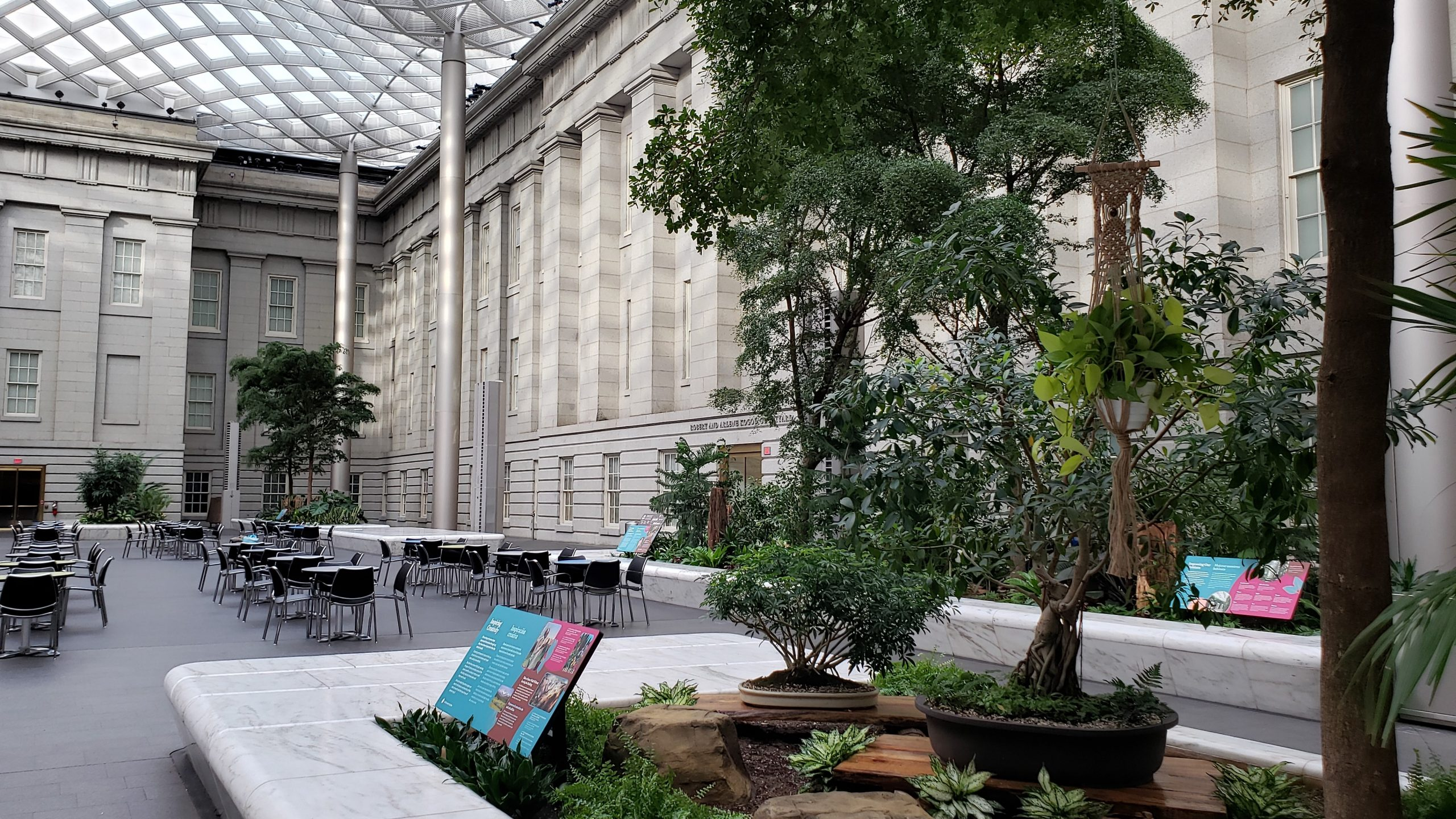 Inspiring Creativity Panel at The Great Indoors Exhibition inside the Robert and Arlene Kogod Courtyard