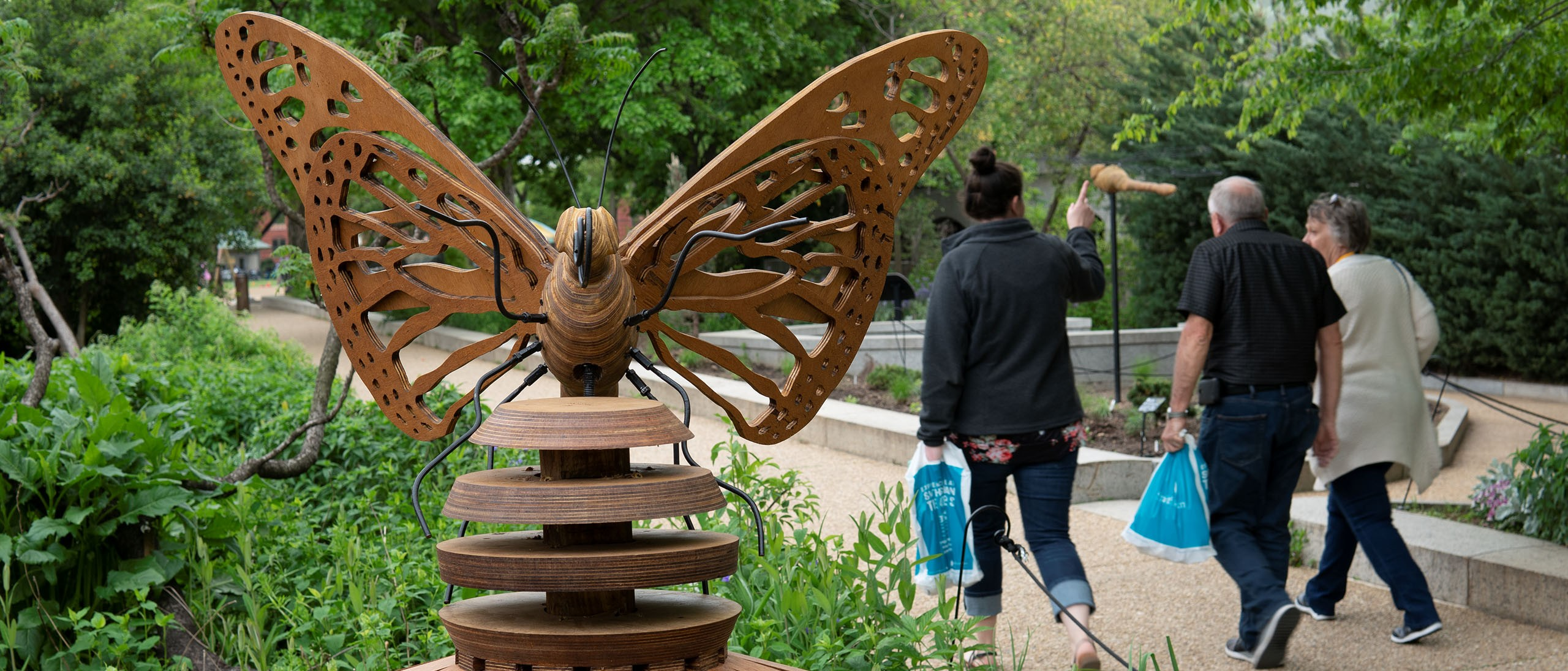Habitat Exhibition in the Pollinator Garden at the National Museum of Natural History
