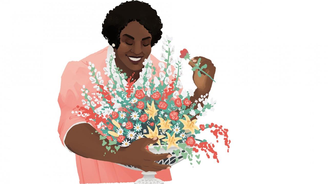 Illustration of Ethel E Clark